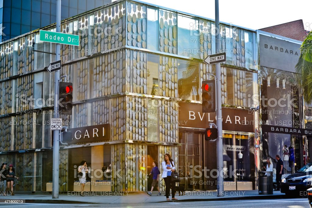 Bulgari Store on Rodeo Drive, Beverly Hills stock photo
