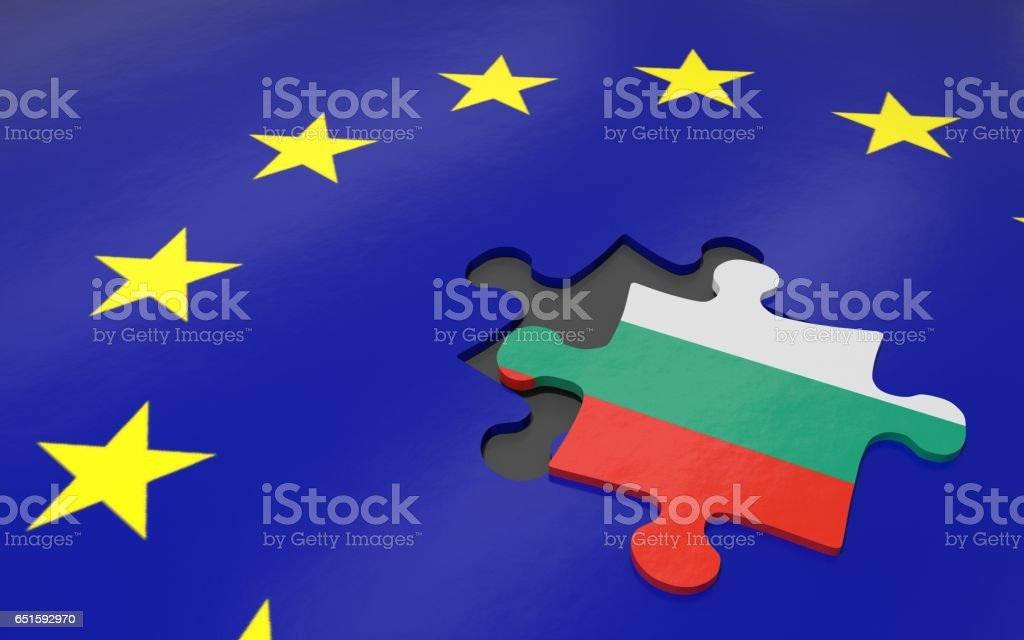 Bulgaria and EU vector art illustration