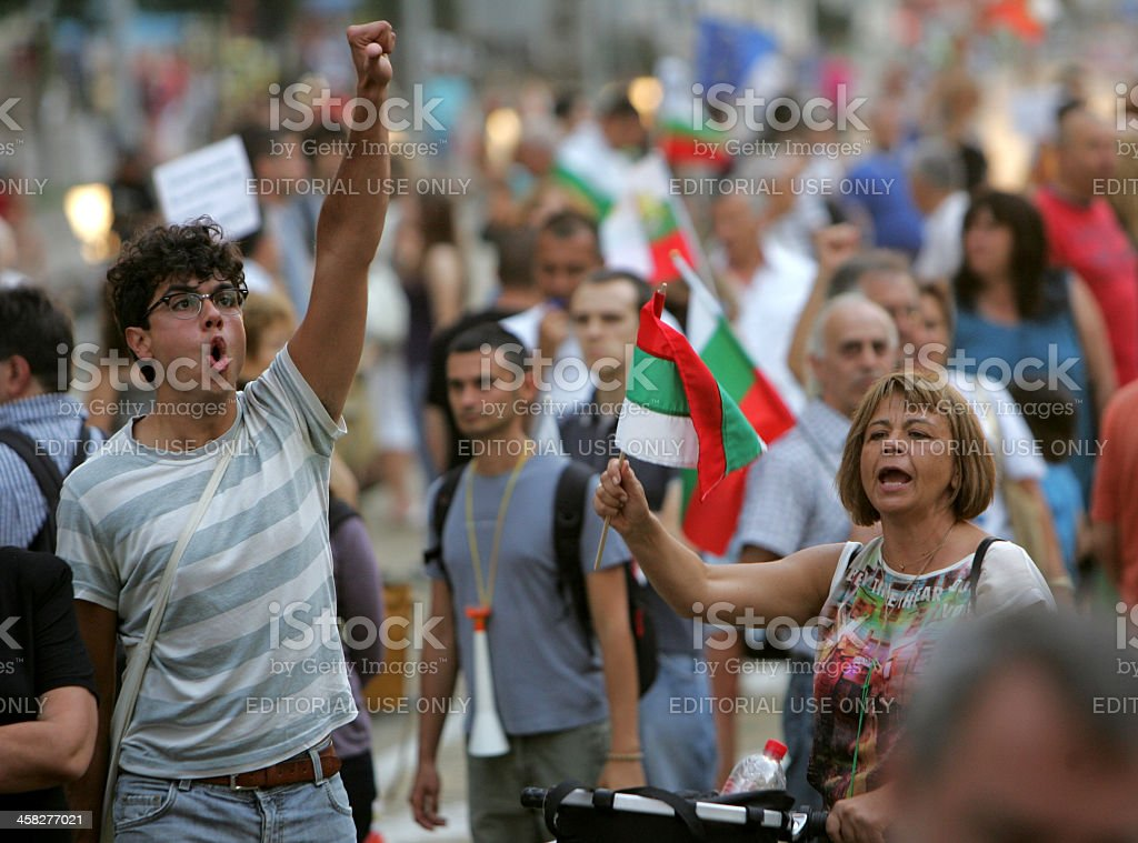 Bulgaria Anti Government Protest stock photo