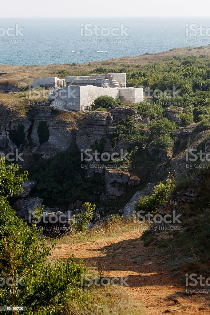 Bulgaria Black Sea Kamen Bryag stock photo