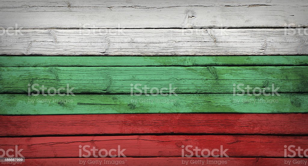 Bulgaria flag painted on wooden boards royalty-free stock photo