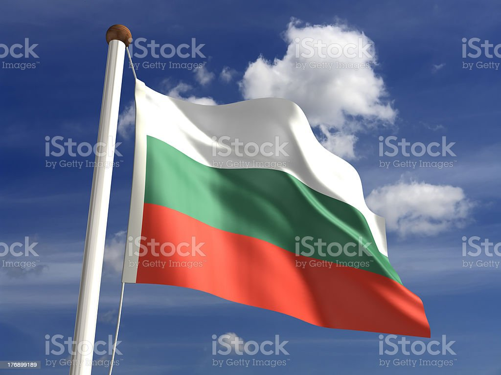 Bulgaria flag (with clipping path) stock photo