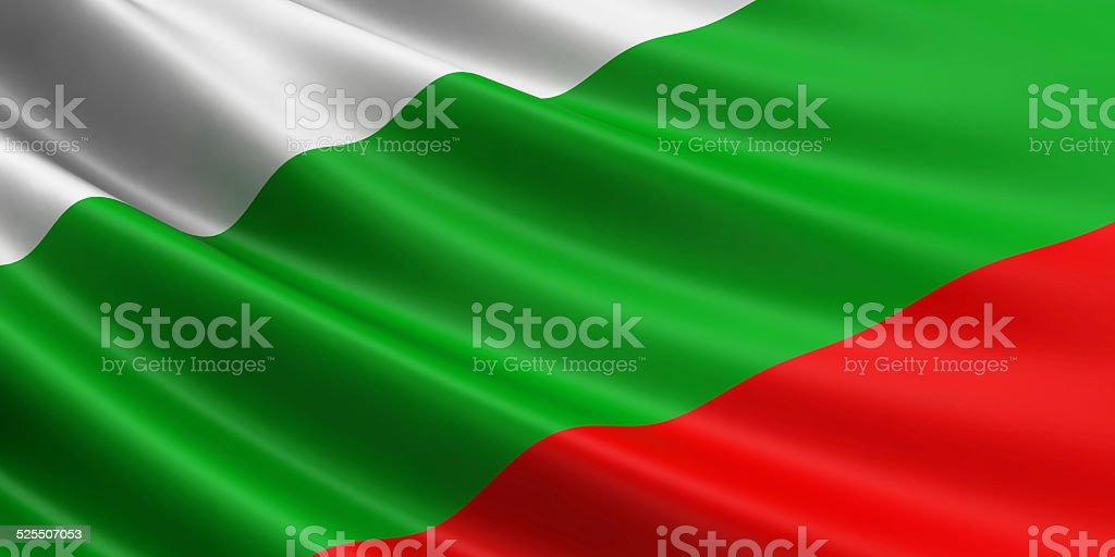 Bulgaria flag. stock photo