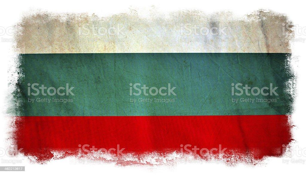 Bulgaria grunge flag stock photo