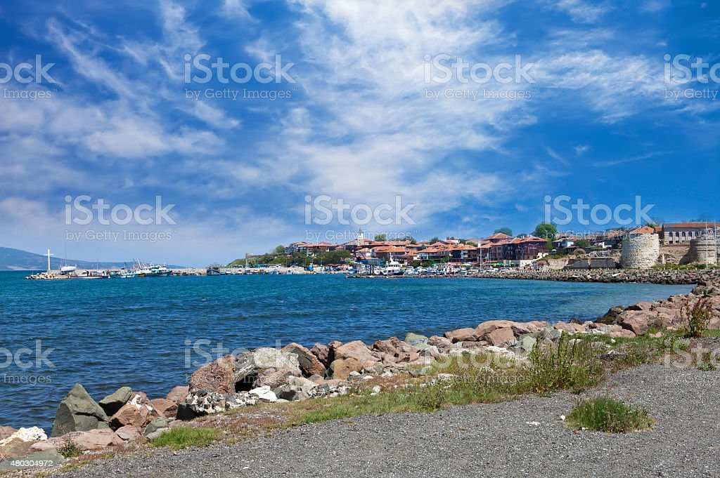 Bulgaria. Nesebr. A view on the ancient part of  city stock photo