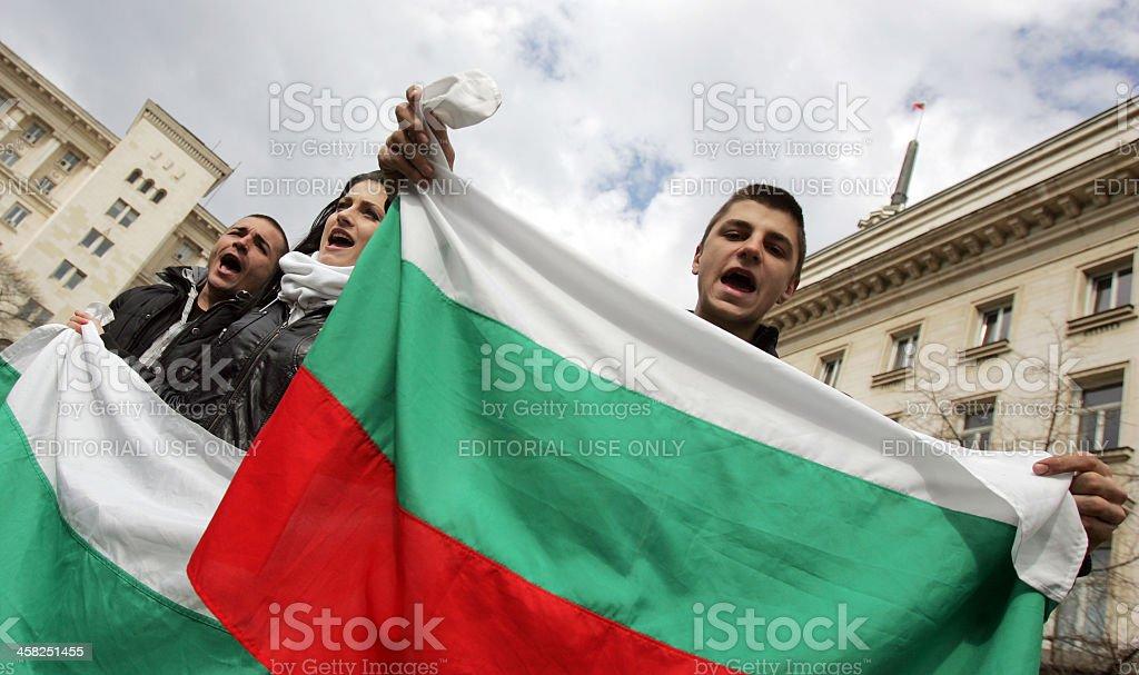 Bulgaria Protest Anti Government stock photo