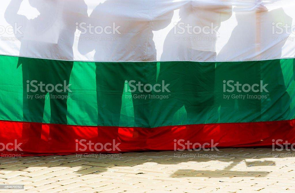 Bulgaria protest riot demonstration stock photo