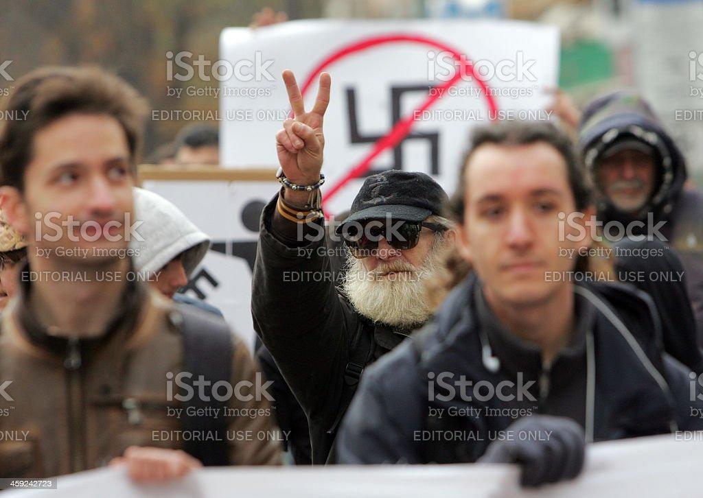 Bulgaria Sofia Anti fascist Portest stock photo