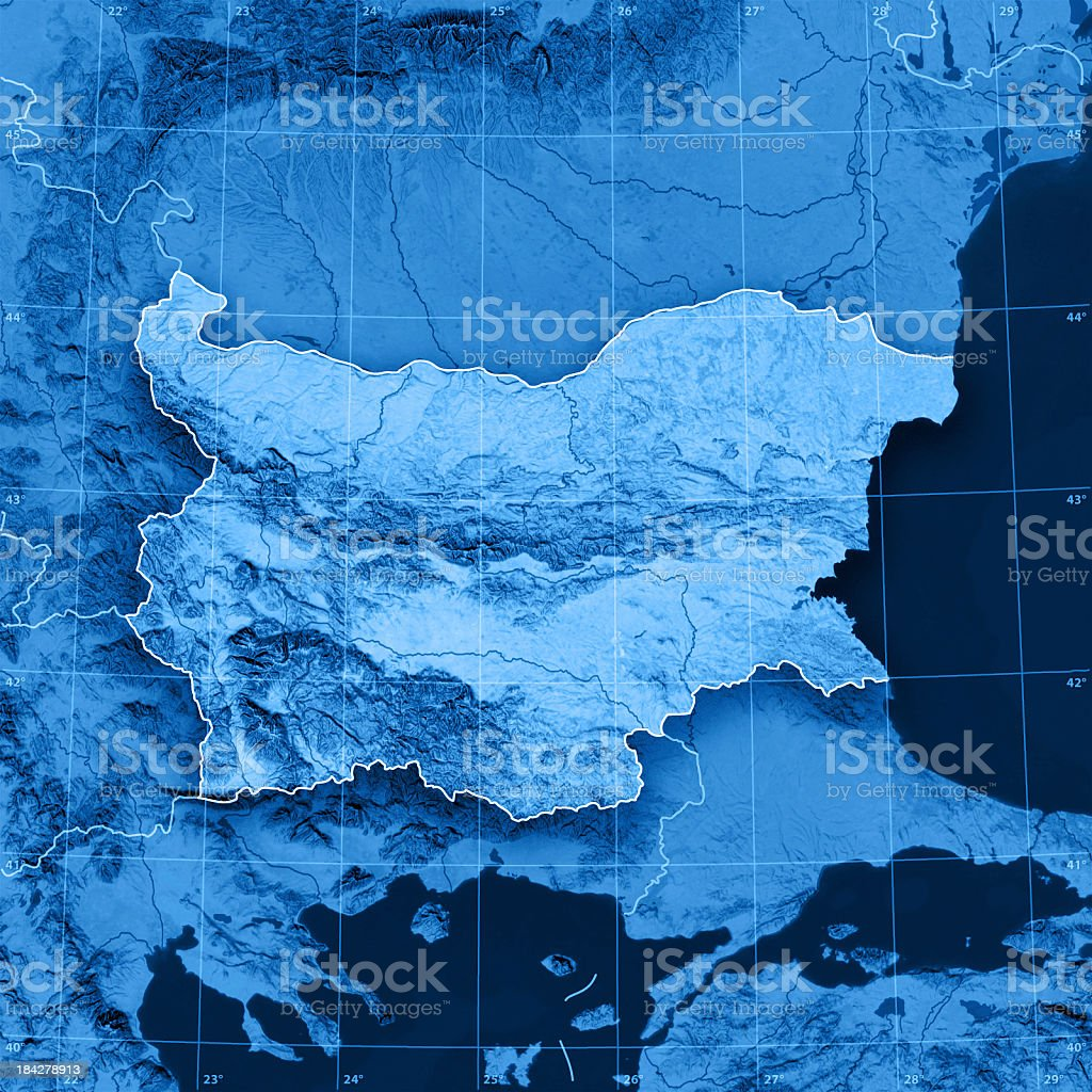 Bulgaria Topographic Map royalty-free stock photo