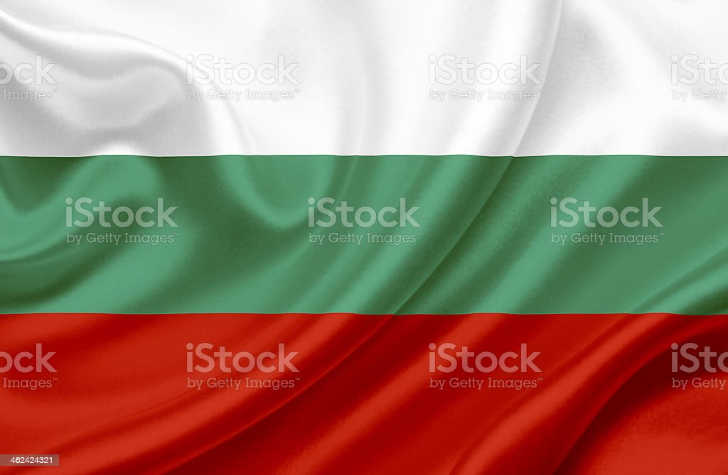 Bulgaria waving flag stock photo