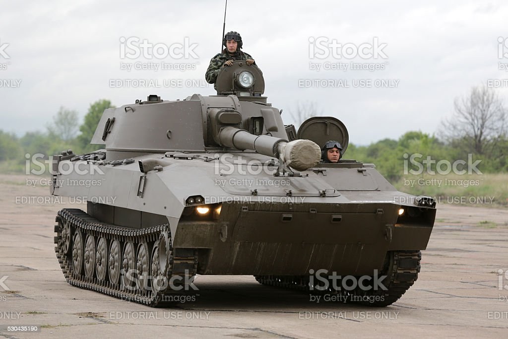 Bulgarian army battle tank stock photo