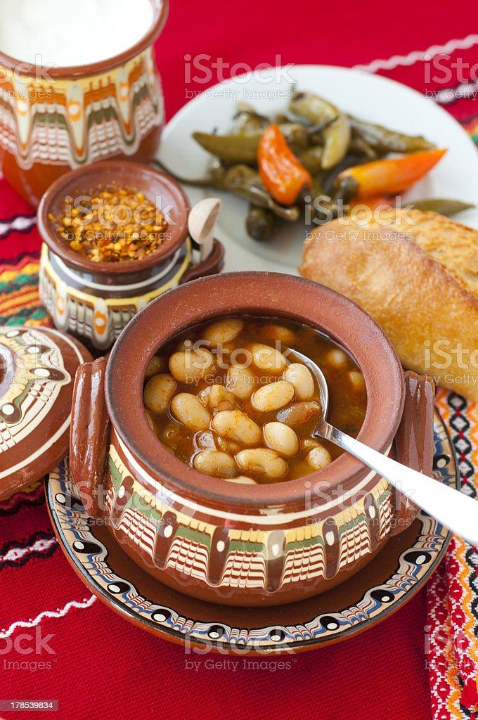 Bulgarian baked beans royalty-free stock photo