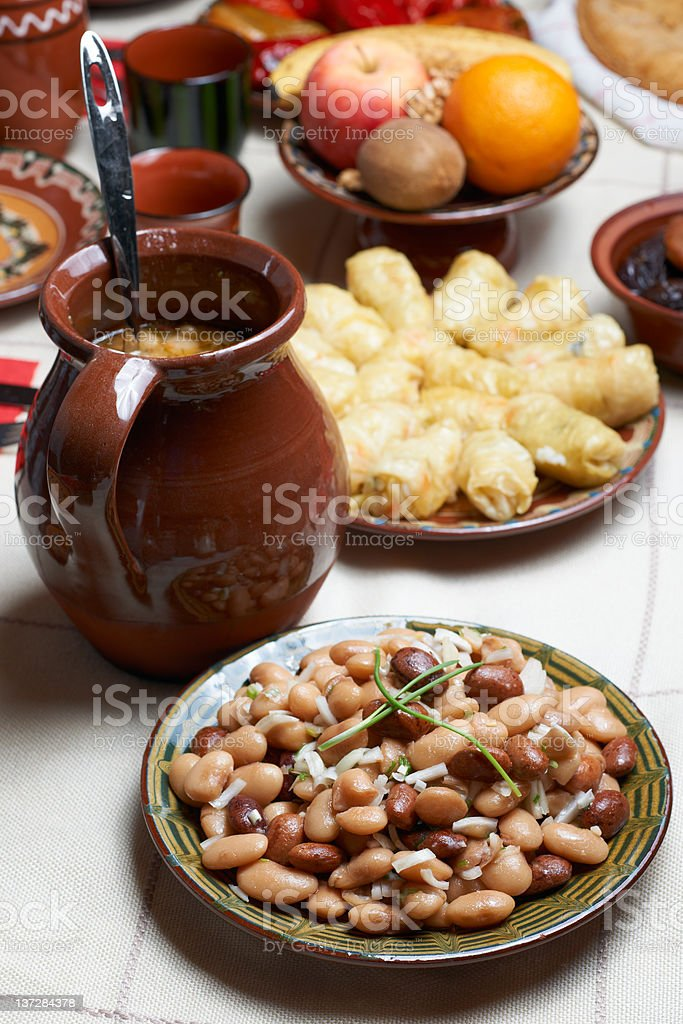 Bulgarian beans food royalty-free stock photo
