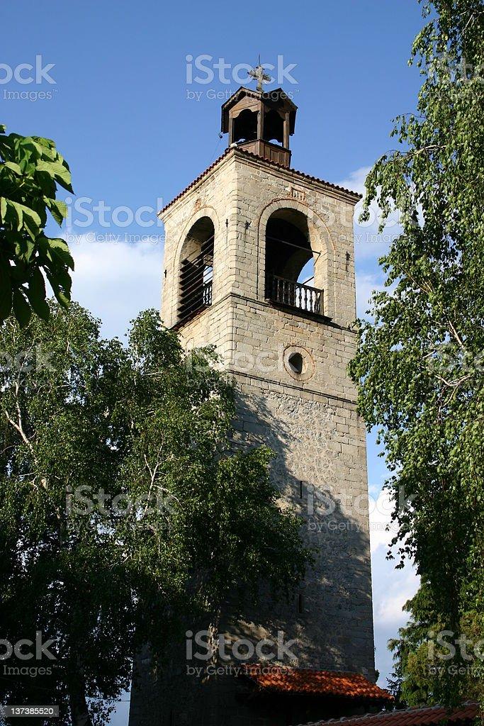 Bulgarian Church Tower, Bansko royalty-free stock photo