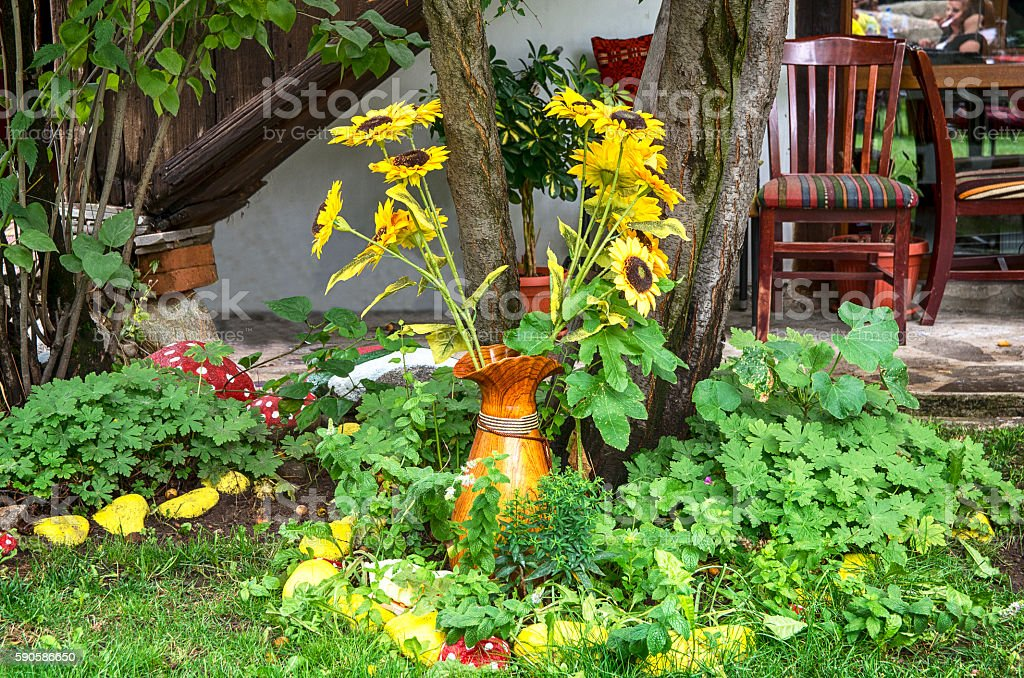 Bulgarian courtyard garden royalty-free stock photo