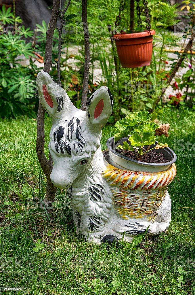 Bulgarian courtyard garden royalty-free stock photo