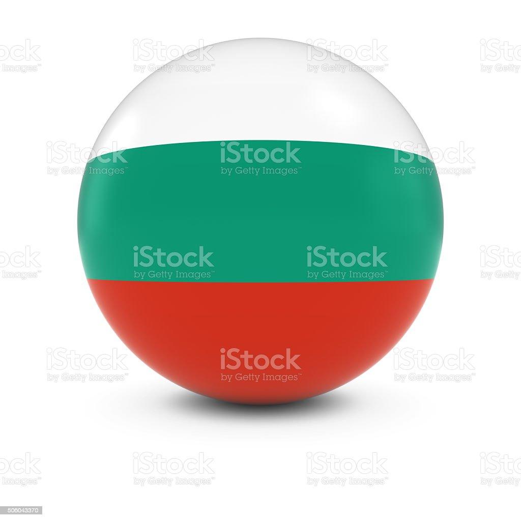 Bulgarian Flag Ball - Flag of Bulgaria on Isolated Sphere stock photo