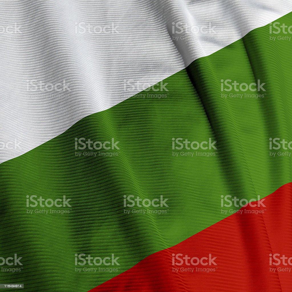 Bulgarian Flag Closeup stock photo