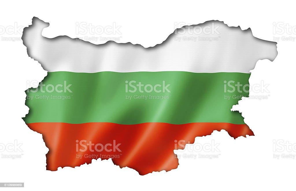 Bulgarian flag map stock photo