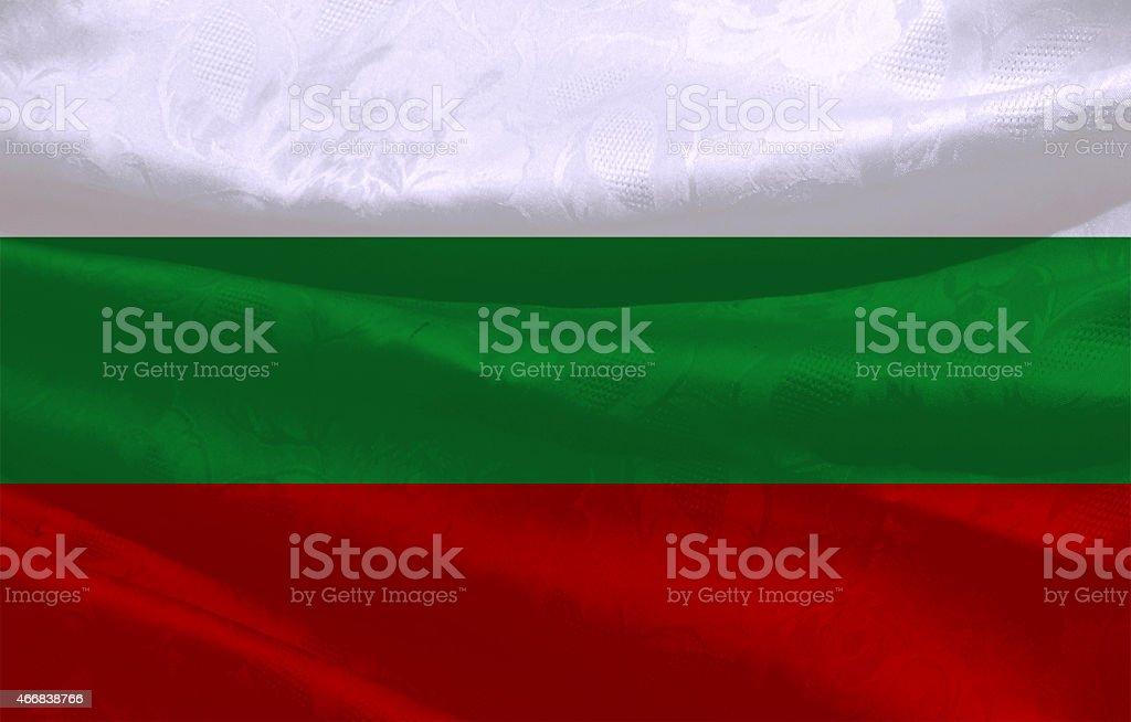 Bulgarian flag stock photo