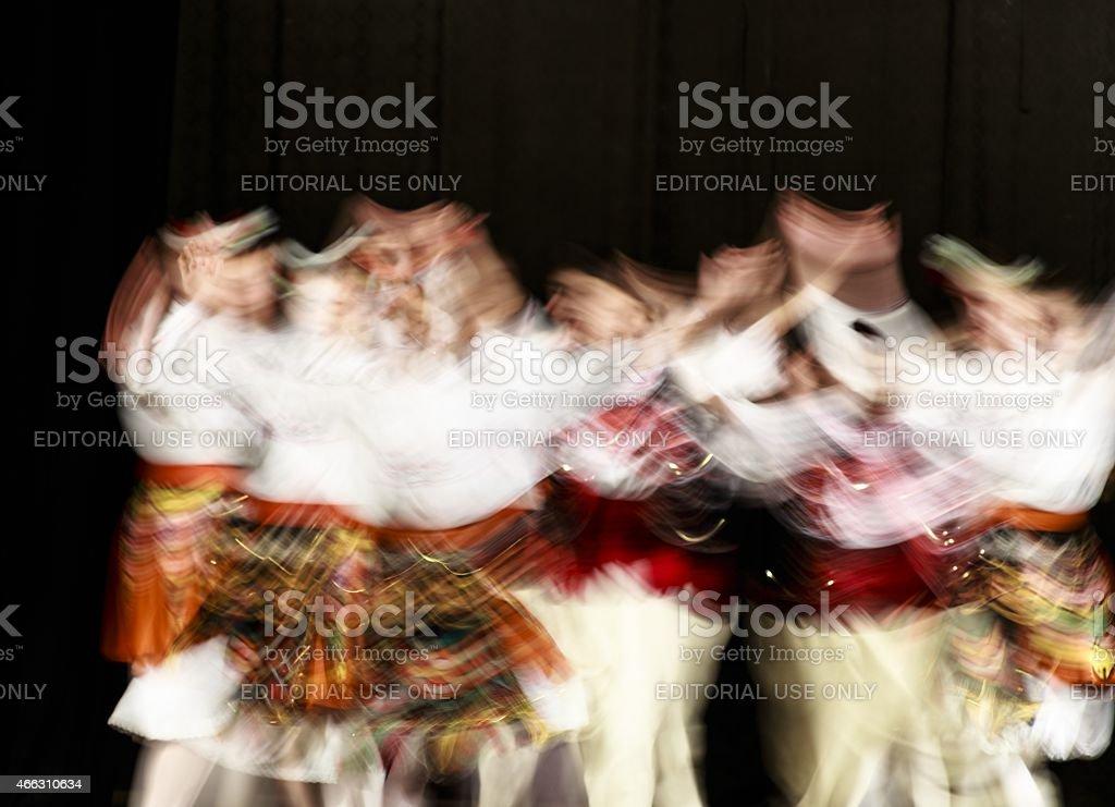 Bulgarian folk dances stock photo