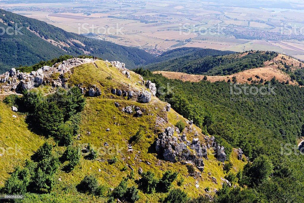 Bulgarian Mountains at Shipka Pass stock photo