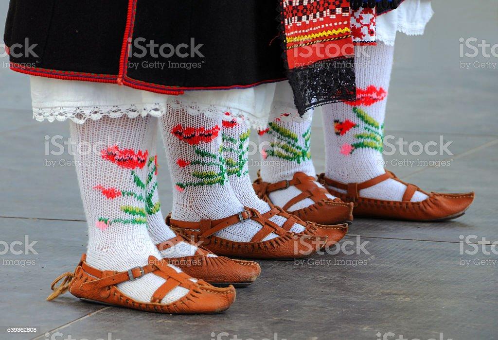 Bulgarian National Shoes and Socks stock photo