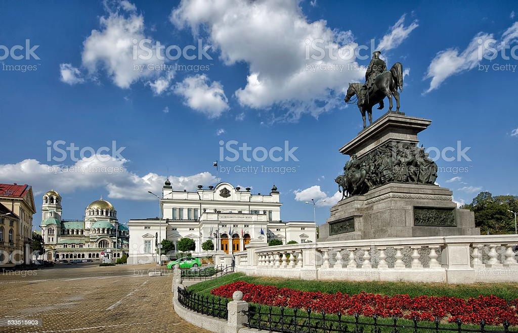 Bulgarian parliament square stock photo