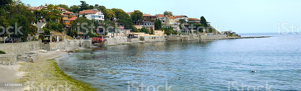 bulgarian town Nesebar stock photo
