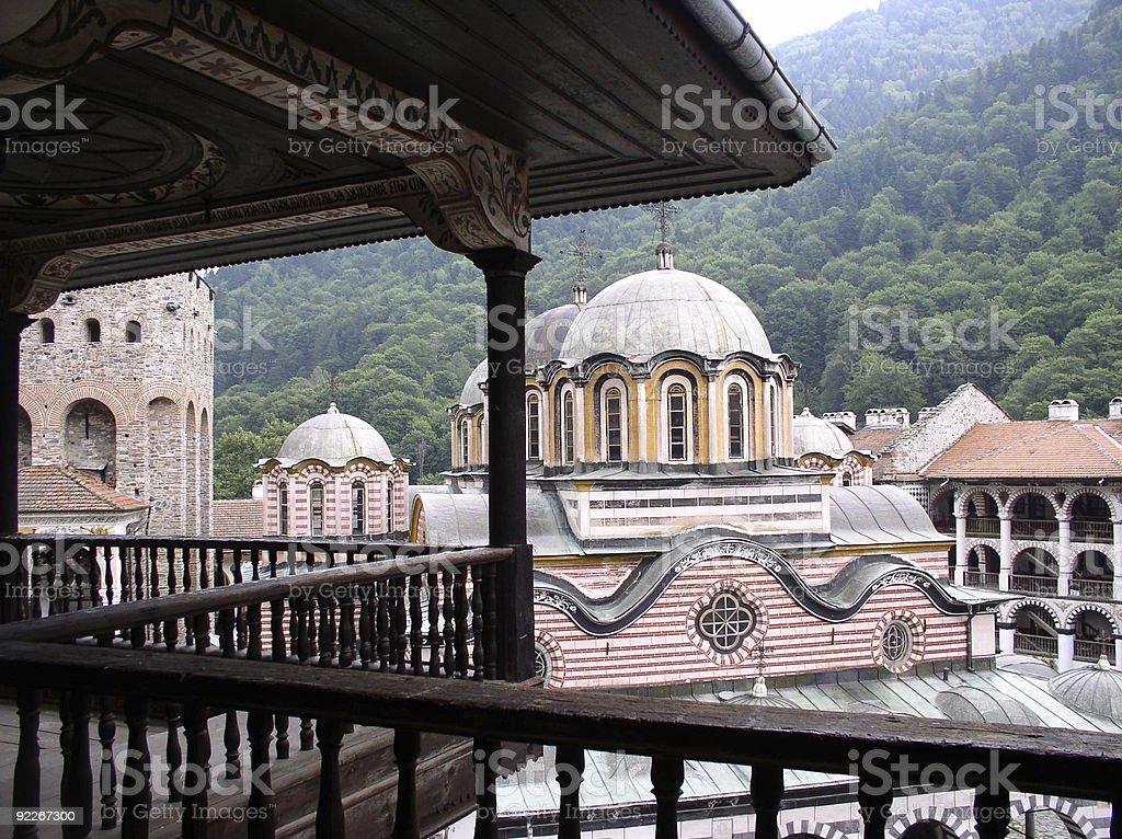 Bulgaria-Rila monastry royalty-free stock photo