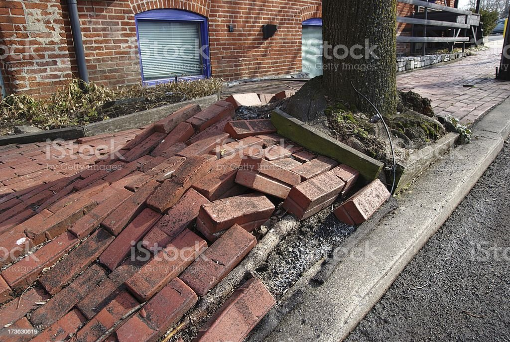 Bulging Bricks royalty-free stock photo