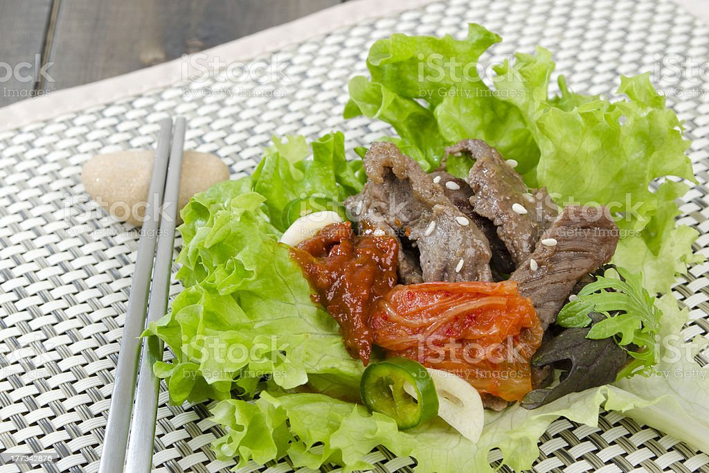Bulgogi stock photo