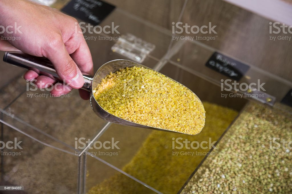 bulgur food shop stock photo