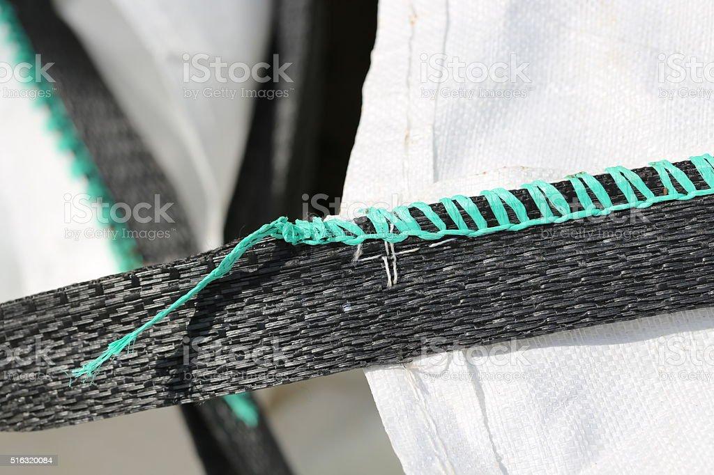 Bulk Bag Handles, Close Up stock photo