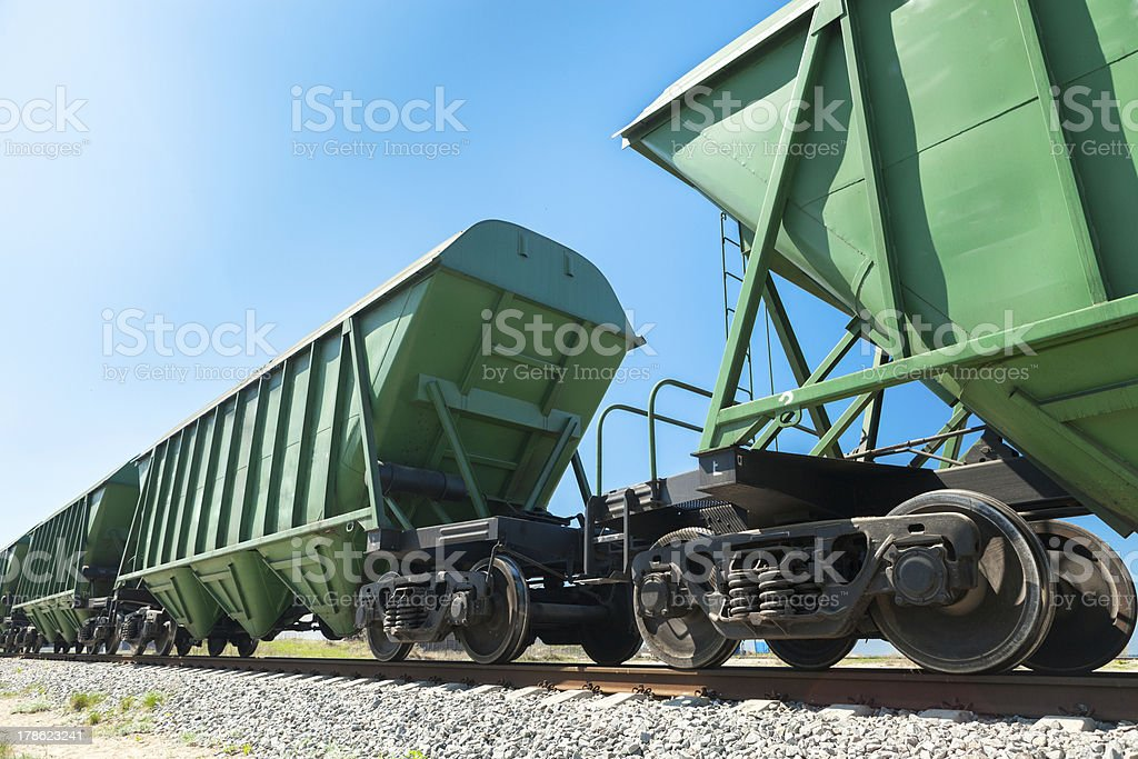 Bulk carriages perspective stock photo