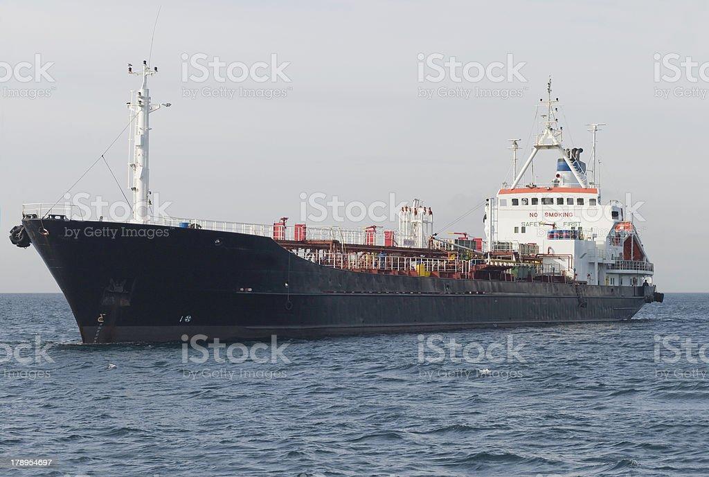 Bulk Carrier at Anchor royalty-free stock photo