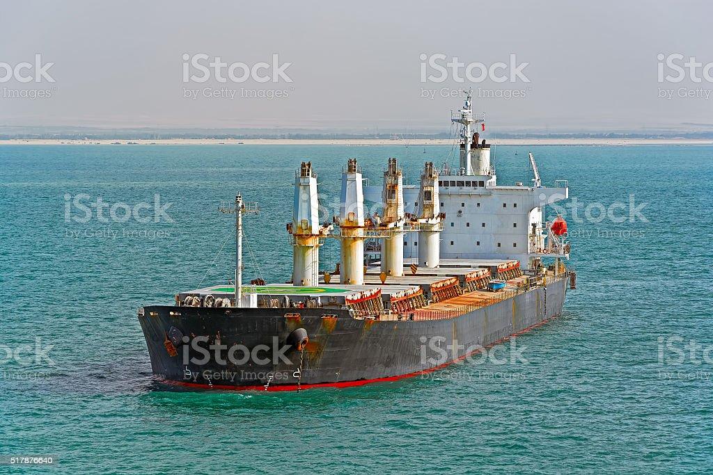 Bulk carrier cargo ship stock photo