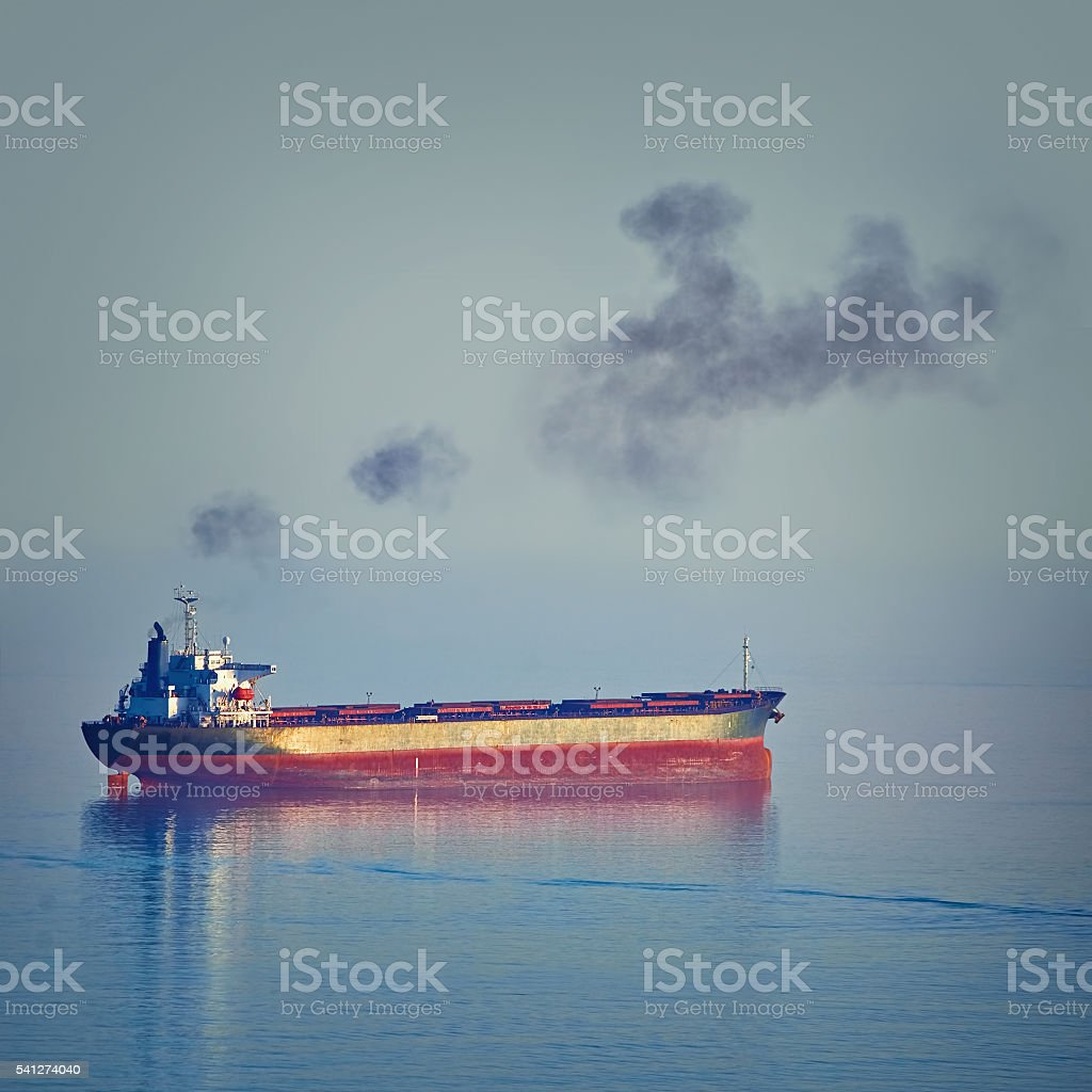 Bulk Carrier Ship stock photo