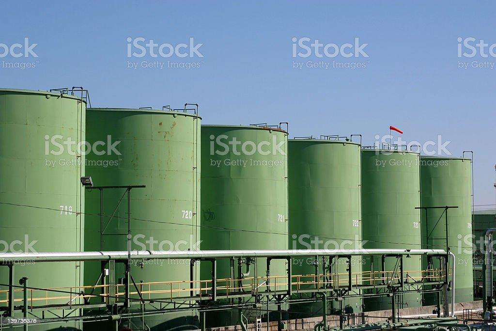 Bulk Chemical Storage tanks royalty-free stock photo