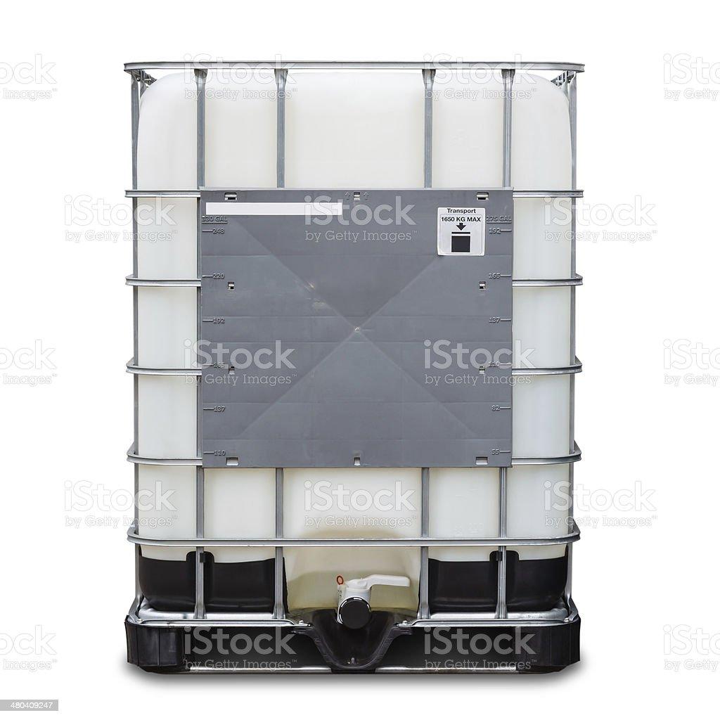 Bulk liquid container stock photo