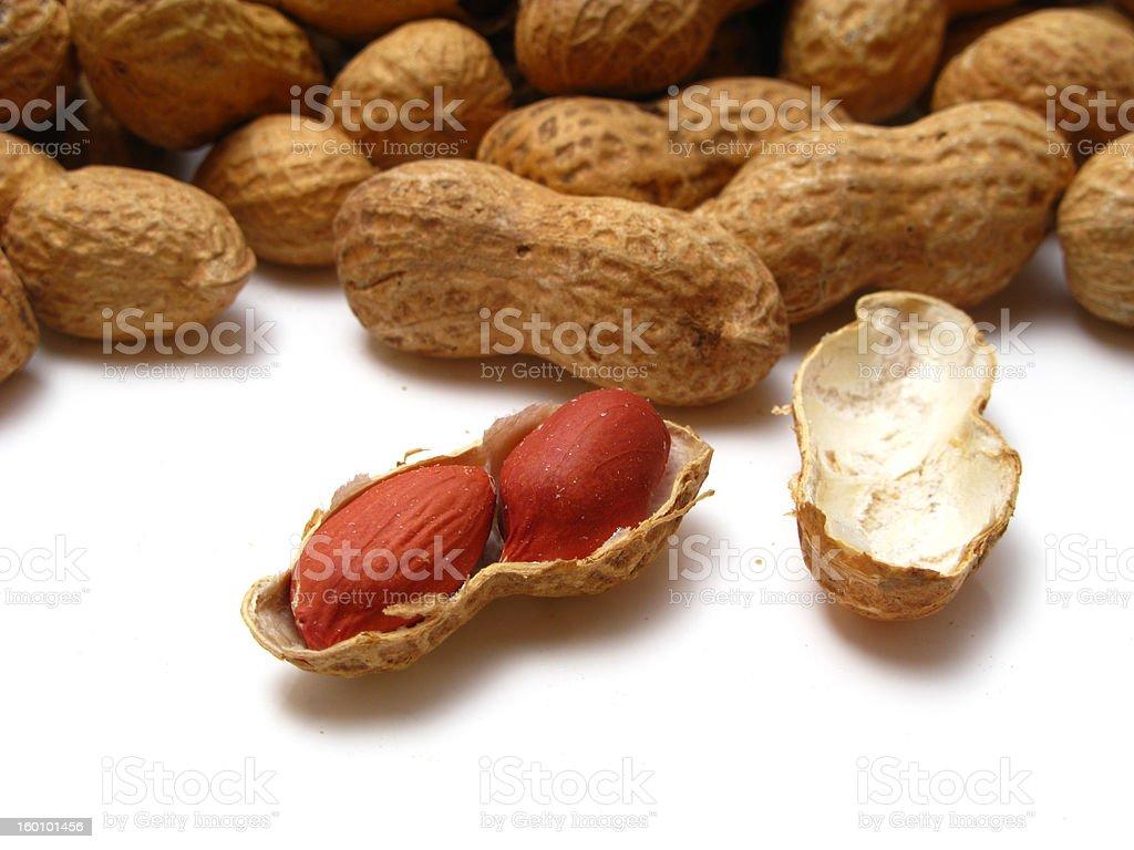 Bulk peanuts royalty-free stock photo