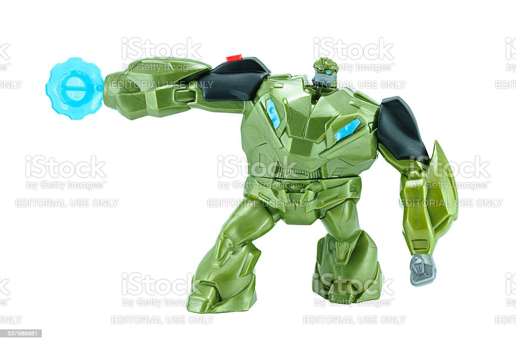 Bulkhead  toy character from TRANSFORMERS Prime animation series stock photo