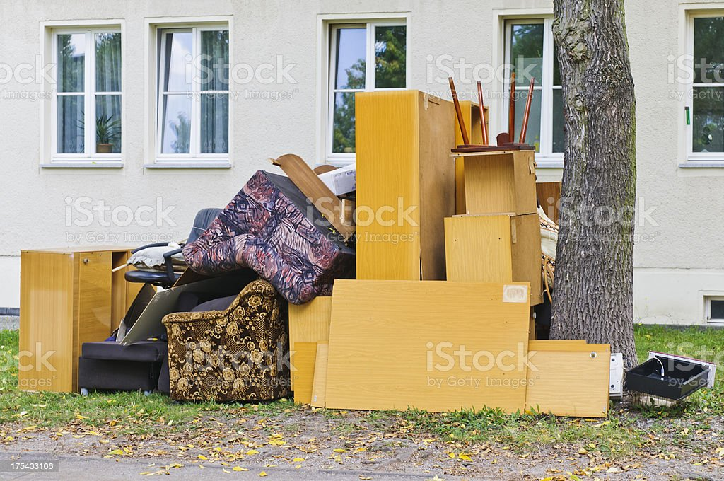 Bulky waste - Sperrmüll royalty-free stock photo