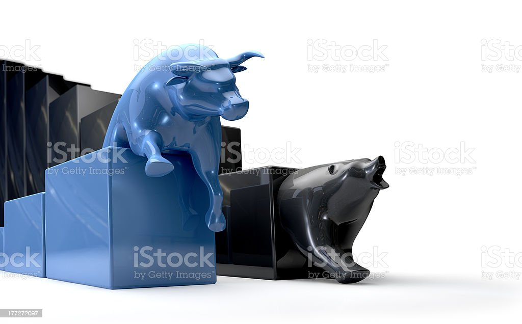 Bull & Bear Econonomic Trends Competing stock photo