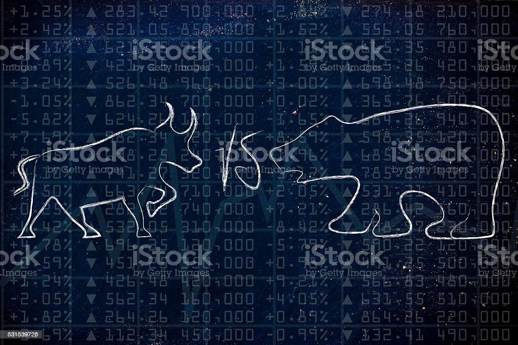 bull & bear markets stock photo