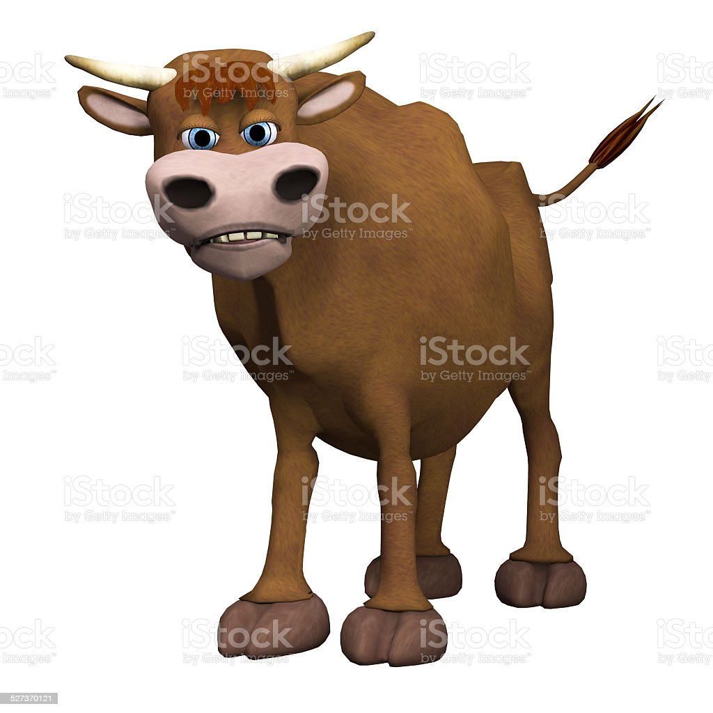 Bull, isolated on the white background stock photo