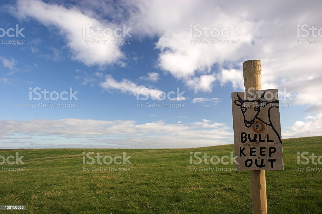 bull keep out royalty-free stock photo