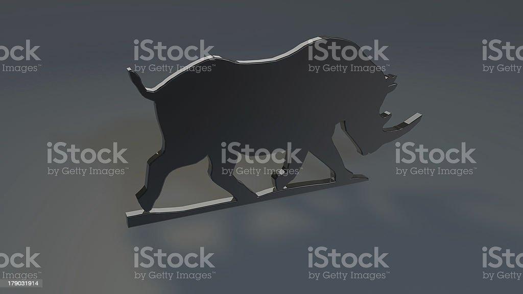 Bull logo royalty-free stock photo