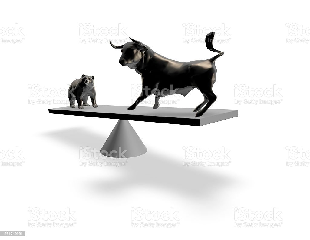 Bull market exchange abstract financial concept. stock photo