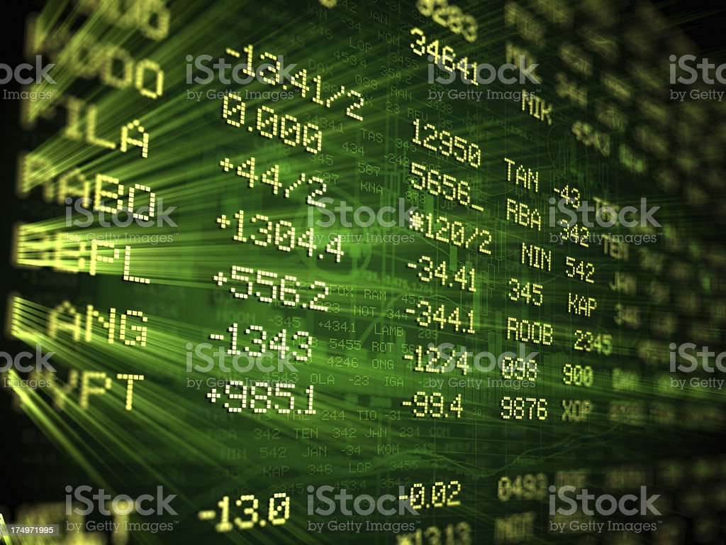 Bull Market - Financial Data royalty-free stock photo